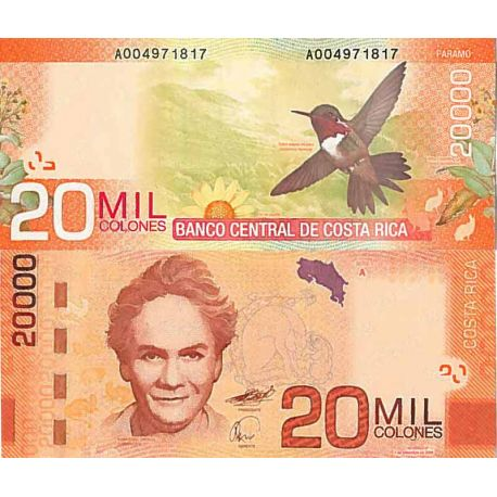 Billet de banque collection Costa Rica - PK N° 278 - 20 000 Colones