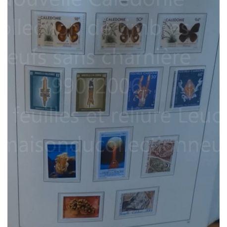 Collection de timbres de Nouvelle Calédonie neufs sans charnière