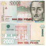 Billet de banque collection Colombie - PK N° 457 - 2000 Pesos