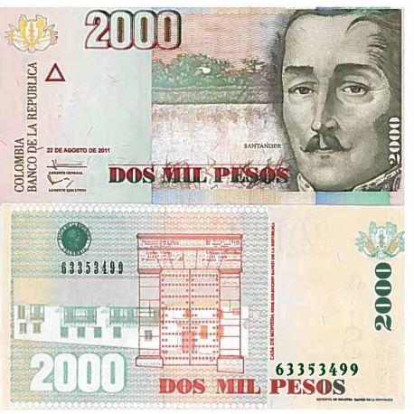 Billet de banque collection Colombie - PK N° 9999 - 2000 Pesos