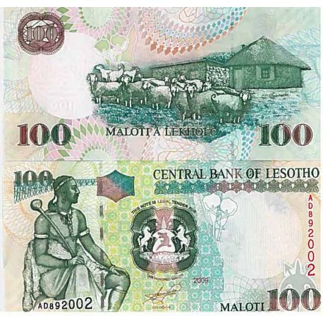 Billet de banque collection Lesotho - PK N° 19 - 100 Maloti