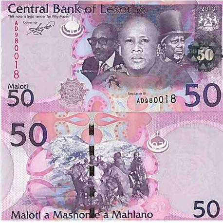 Billet de banque collection Lesotho - PK N° 23 - 50 Maloti