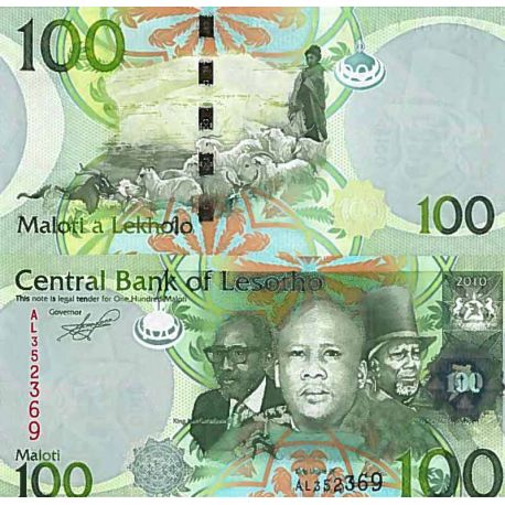 Billet de banque collection Lesotho - PK N° 24 - 100 Maloti