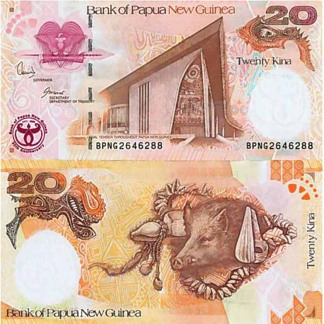 Billet de banque collection Papouasie Nlle Guinee - PK N° 9999 - 20 Kina