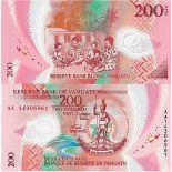Bello banconote Vanuatu Pick numero 14 - 200 Vatu 2014