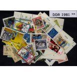 Ostdeutschland - Jahr 1981 vervollständigt neue Briefmarken