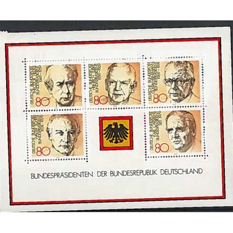 Allemagne Fédérale - Année 1980 complète timbres neufs