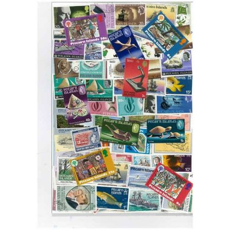 Collection de timbres Pitcairn oblitérés