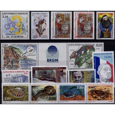 St Pierre et Miquelon - Année 1995 complète **