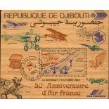 Djibouti Lot de 3 Blocs-Feuillets sur bois oblitérés