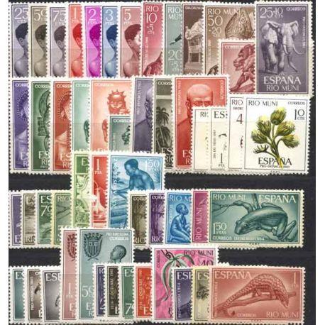 Rio-Muni, collection de 50 timbres neufs sans charnière
