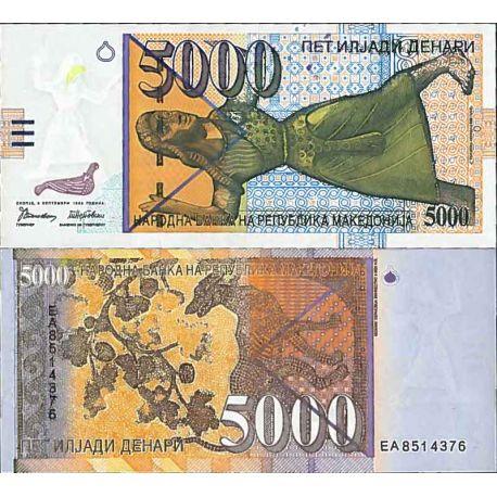 Billets de collection Billet de banque collection Macedoine - PK N° 19 - 5000 Denari Billets de Macedoine 189,00 €