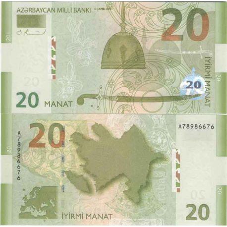 Billet de banque collection Azerbaidjan - PK N° 28 - 20 Manat