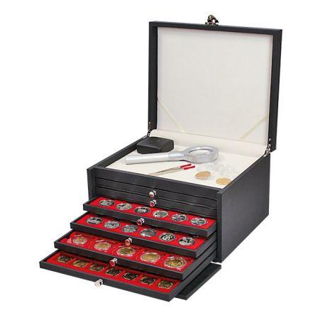 Coffret Lindner Prestige pour monnaies de collection