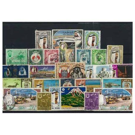 Collection de timbres Abu Dhabi oblitérés