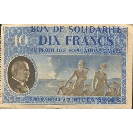 Bon de solidarité de 10 francs 1941