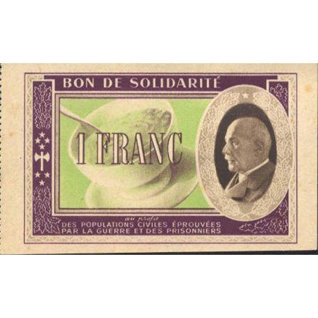 Bon de solidarité de 1 franc 1941