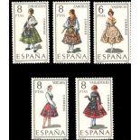 Spanien Serie von Kleidung 53 neue Briefmarken