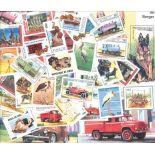 Tschad, Sammlung von 49 Briefmarken und 7 neuen Blöcken