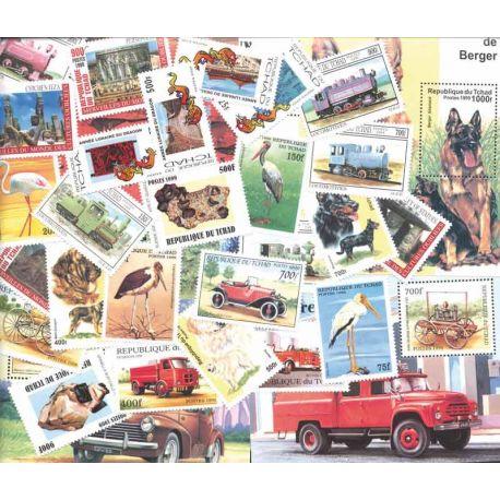 Tchad, collection de 49 timbres et 7 blocs neufs