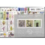 Germania Federale - anno 1984 completa francobolli nuovi