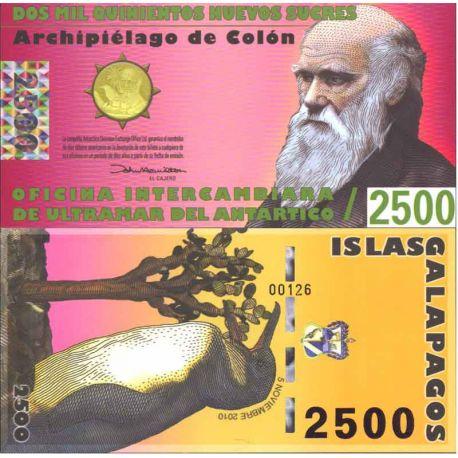 Billets de collection Billet Polymére Galapagos de 2500 Sucres Billets de l'équateur 30,00 €