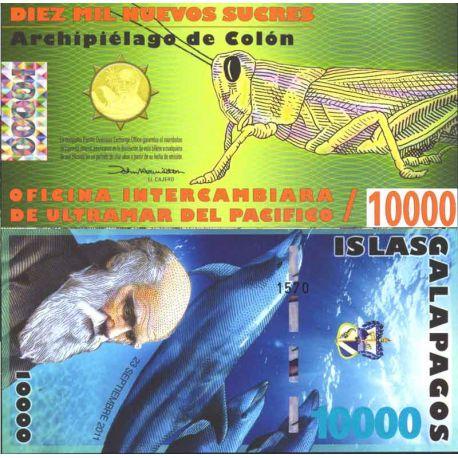 Billets de collection Billet Polymére Galapagos de 10000 Sucres Billets de l'équateur 65,00 €