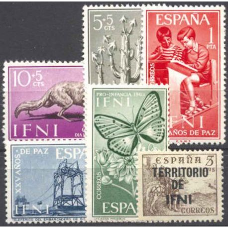 Collection de 100 timbres neufs d'Ifni