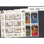 Allemagne de l'Est - Année 1985 complète timbres neufs