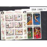 Ostdeutschland - Jahr 1985 vervollständigt neue Briefmarken