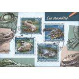 Bloc Crocodiles 4 timbres de Centrafrique