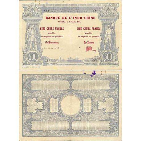 500 Francs 1921 Nouvelle Calédonie TTB+