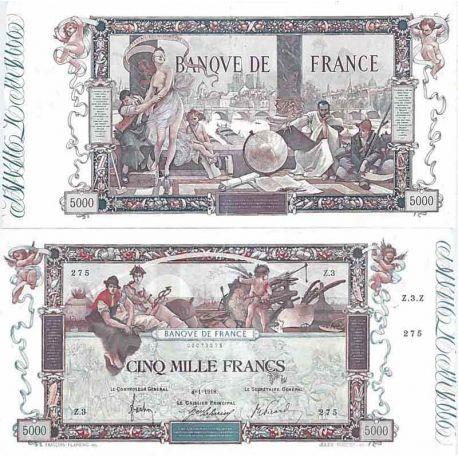 Billet 5000 francs Flameng Type 1918