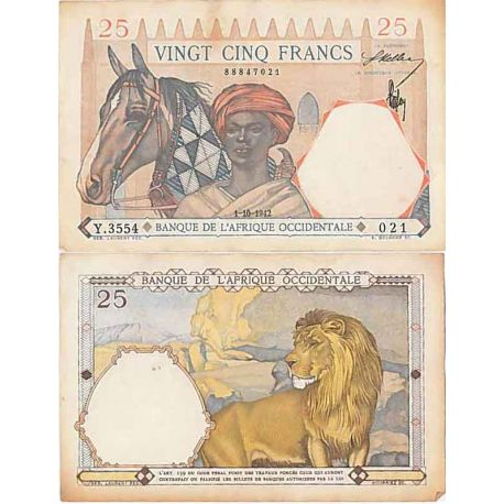Afrique occidentale- Pk n° 27- Billet de 25 Francs