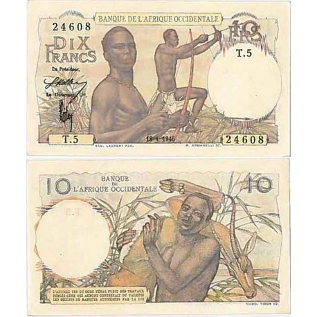 Afrique occidentale- Pk n° 28 - Billet de 5 Francs 1942