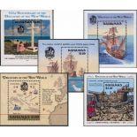 Die Bahamas - Los von 5 Blöcken Entdeckung Amerikas