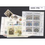 Ostdeutschland - Jahr 1986 vervollständigt neue Briefmarken