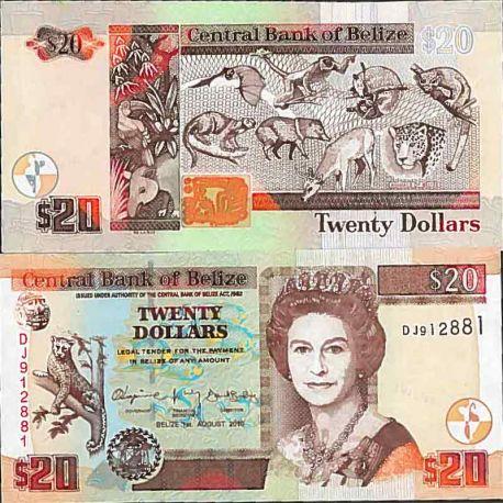 Billets de collection Billet de banque collection Belize - PK N° 69 - 20 Dollars Billets de Belize 36,00 €
