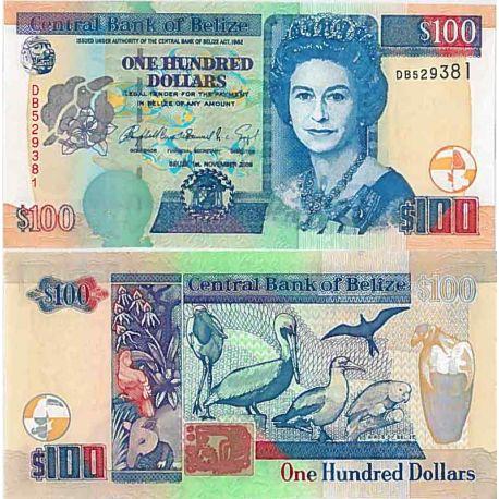 Billets de collection Billet de banque collection Belize - PK N° 71 - 100 Dollars Billets de Belize 134,00 €