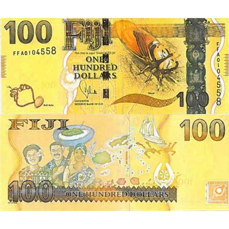 Billets de collection Billet de banque collection Fidji - PK N° 119 - 100 Dollars Billets des Fidji 113,00 €