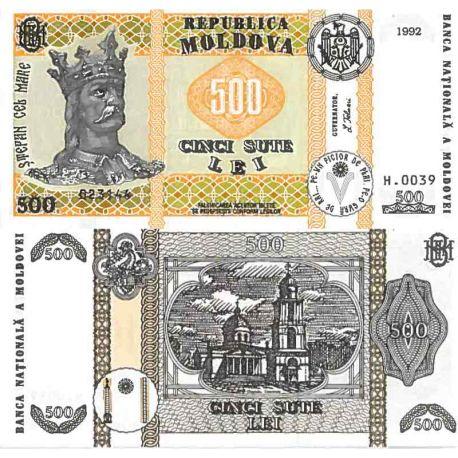 Billet de banque collection Moldavie - PK N° 17 - 500 LEI