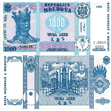Billet de banque collection Moldavie - PK N° 18 - 1000 LEI