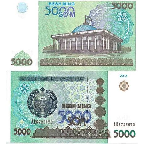 Billet de banque collection Ouzbekistan - PK N° 83 - 5000 Sum