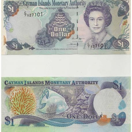 Billets de collection Billets banque Caimanes Pk N° 33 - 1 Dollars Billets des Caimanes 10,00 €