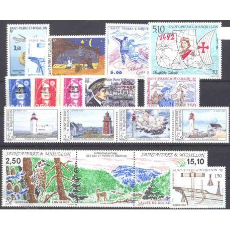 St Pierre et Miquelon - Année 1992 complète **