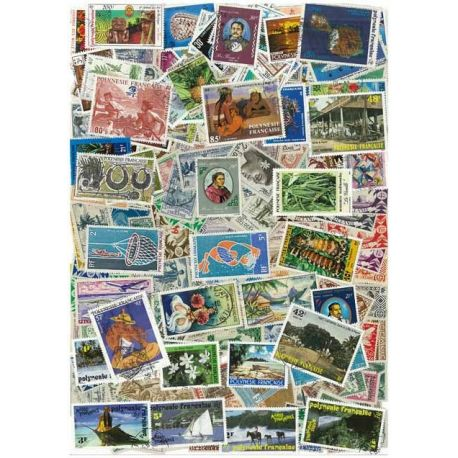 Collection de timbres Polynesie oblitérés