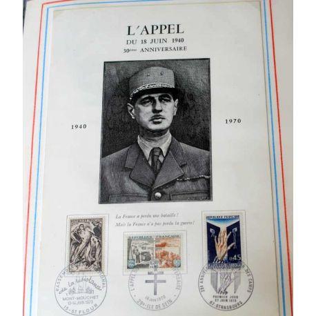 Hommage au Général De Gaulle + de 230 timbres et documents