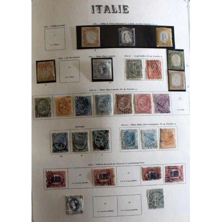 Italie Collection de timbres oblitérés et neufs avec et sans charnière entre 1858 et 1994