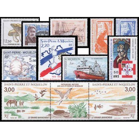 St Pierre et Miquelon - Année 1987 complète **