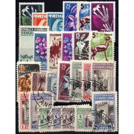 Tanger Collection de 25 timbres neufs et oblitérés
